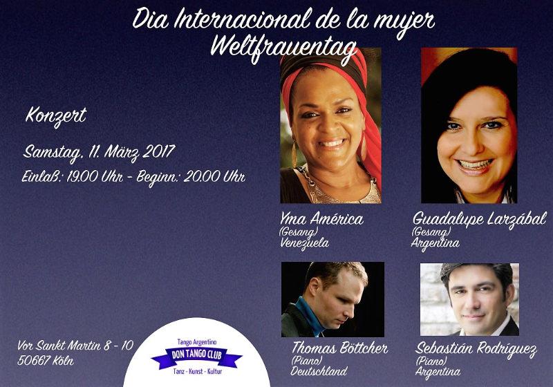 Concierto Día Internacional De La Mujer Ciclo Ariel Ramires Mujeres Argentinas Irina Domsch De Grassmann Choosing Argentina